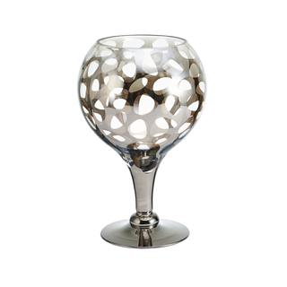 Mikasa Nickle Leopard Glass Goblet Candle Holder