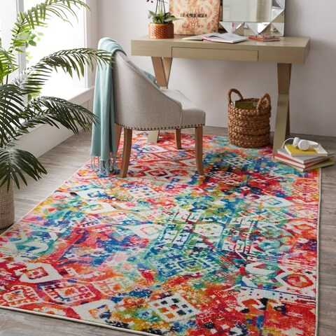 Gracewood Hollow Pratolini Patchwork MultiColor Area Rug - 5' x 8'