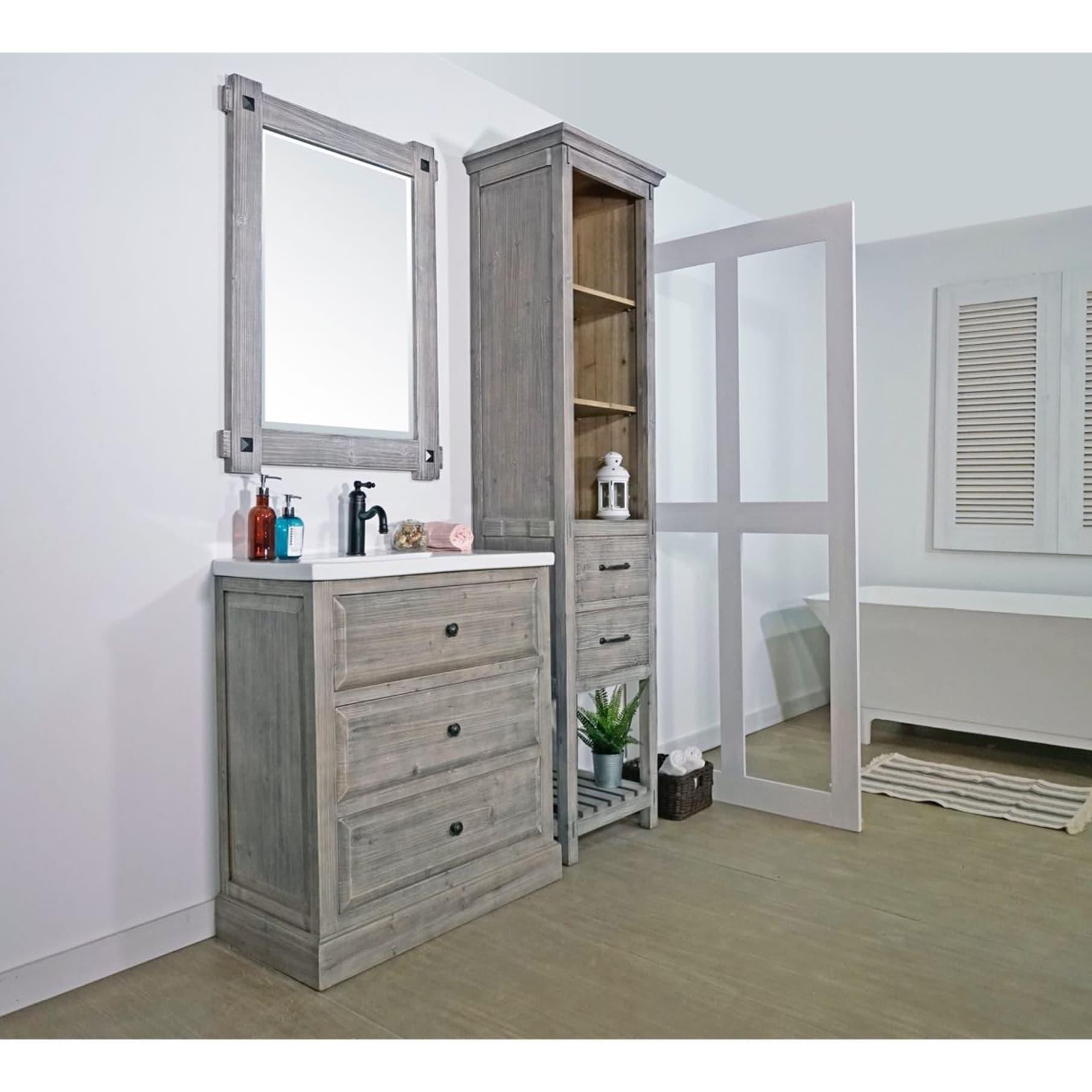 Buy single bathroom vanities vanity cabinets online at overstock our best bathroom furniture deals