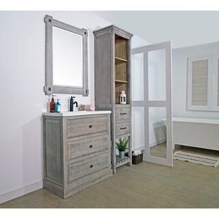 rustic style 30 inch bathroom vanity
