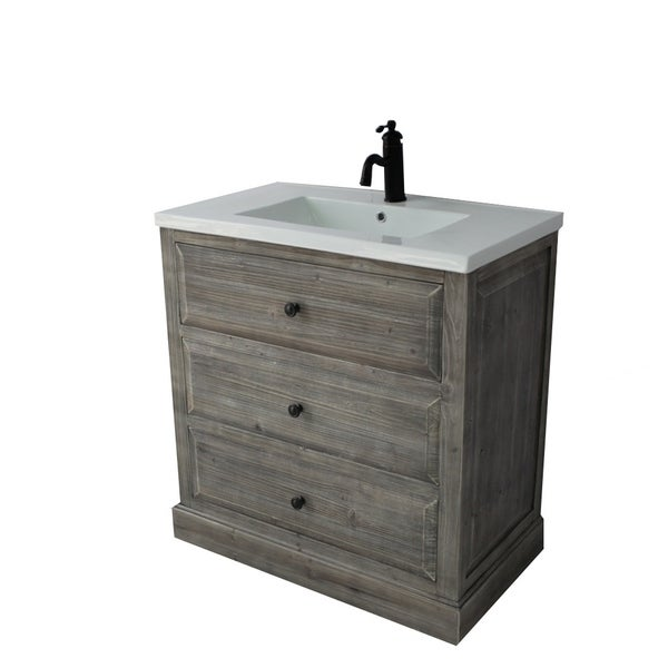 Shop Rustic Style 30-inch Bathroom Vanity - Free Shipping ...