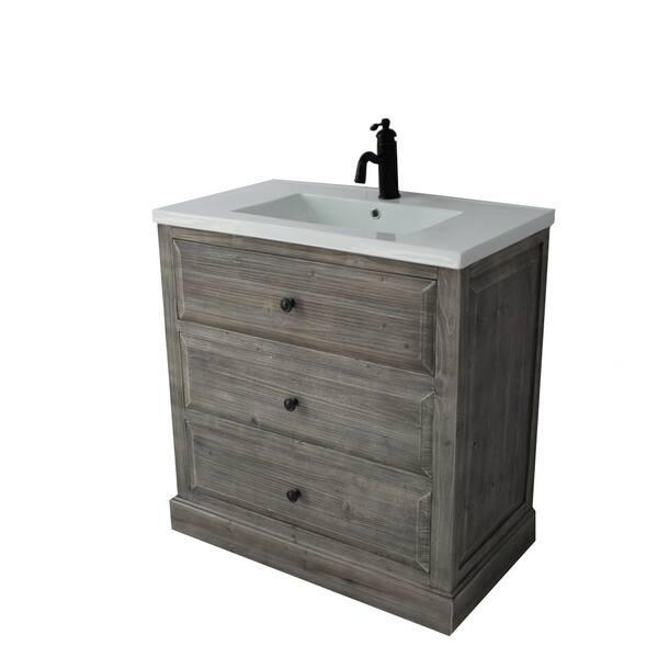 Shop Rustic Style 30-inch Bathroom Vanity - Free Shipping ...