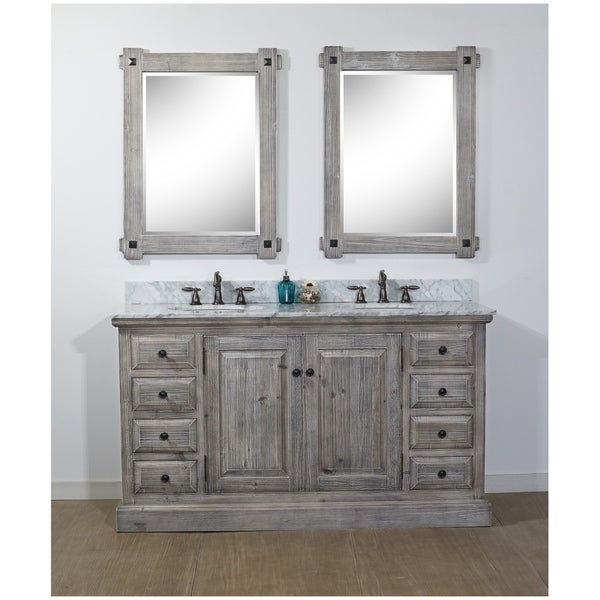 Rustic Style 61-inch Bathroom Vanity. Opens flyout.