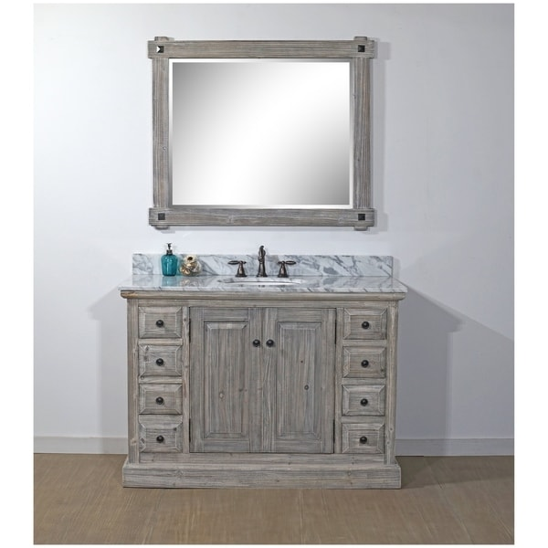 Shop Rustic Style 48-inch Bathroom Vanity in Grey ...