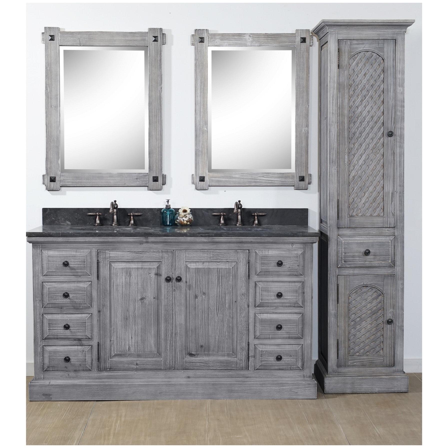Rustic Style 61 Inch Bathroom Vanity