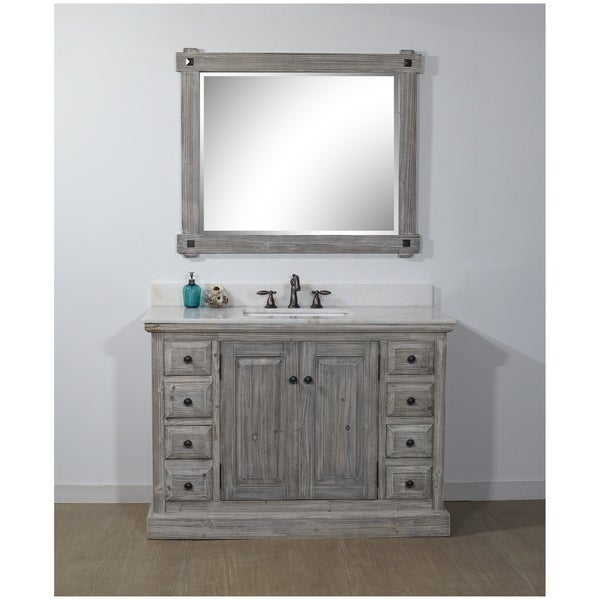 Shop Rustic Style 48 Inch Bathroom Vanity In Grey