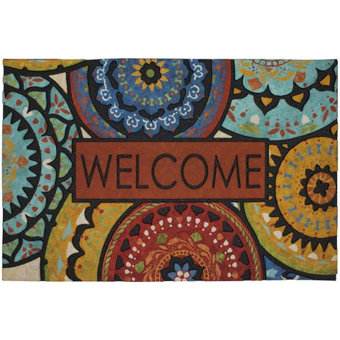 "Mohawk Home Doorscapes Estate Mat Spanish Suzani Welcome Doormat (1'11 x 2'11) - 1'11"" x 2'11"""