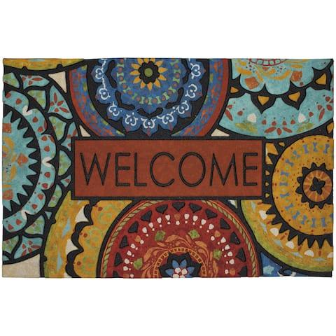 "Mohawk Home Doorscapes Estate Mat Spanish Suzani Welcome Doormat (1'11 x 2'11) - 1'11"" x 2'11"""