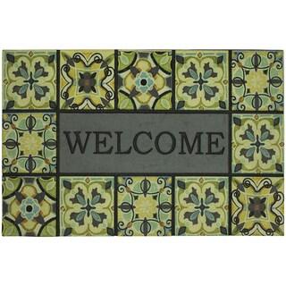 Mohawk Home Doorscapes Estate Mat Welcome Bohemian Tiles Doormat (1'11 x 2'11)