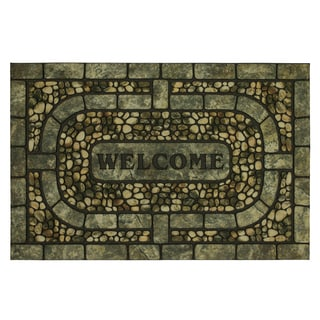 Mohawk Doorscapes Estate Mat Welcome Garden Pebbles Door Mat (1'11x2'11)