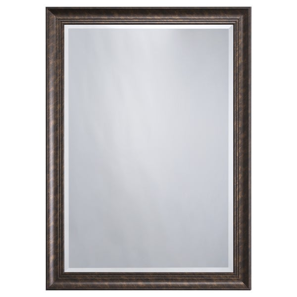 Brown Framed Accent Mirror