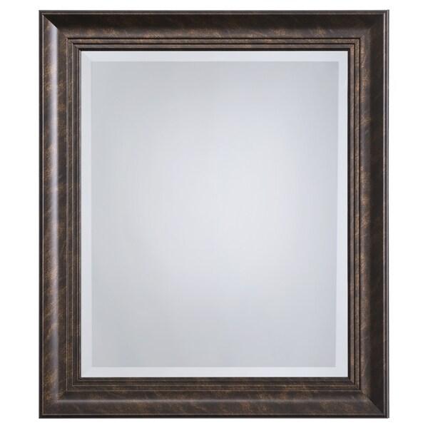 """Bronze Framed Accent Mirror - Antique Brown - 1.81"""" D x 23"""" W x 27"""" H"""