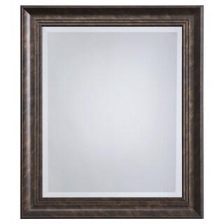 Bronze Framed Accent Mirror - Antique Brown - N/A