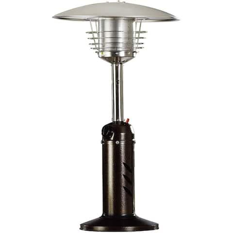 Mini Umbrella Tabletop Propane Patio Heater in Hammered Bronze