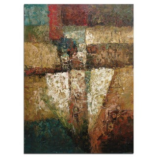 """Modern Abstract Art, Oil Painting of Beautiful Colors and Patterns on Canvas 24""""x36"""""""
