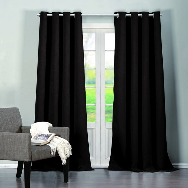 Duck River Quincy Solid Blackout Curtain Panel Pair. Opens flyout.