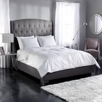 White Down 300 Thread Count Cotton Sateen Baffle Box Comforter