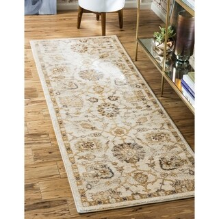 Traditional Abstract Floral Runner Rug (2'7 x 10')