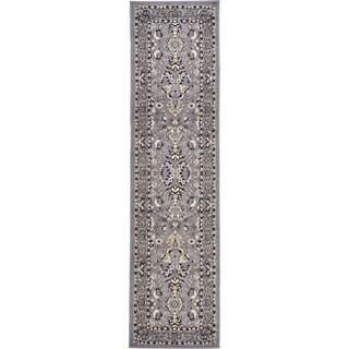 Kashan Grey Floral Runner Rug (2'7 x 10')