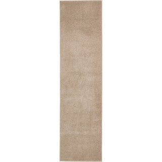 Unique Loom Solid Shag Runner Rug - 2' 7 x 10' (Option: Taupe)