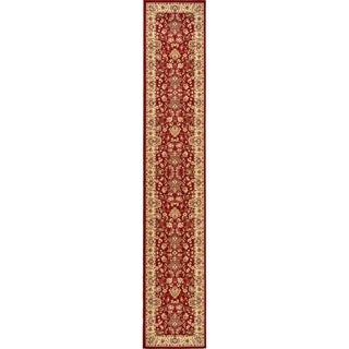 Kashan Indoor/ Outdoor Floral Runner Rug (3' x 16'5)