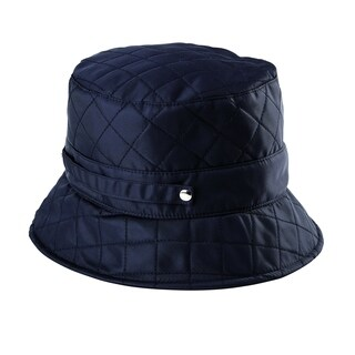 San Diego Hat Company Quilted Rain Hat with Packable Strap SDH3402 Black