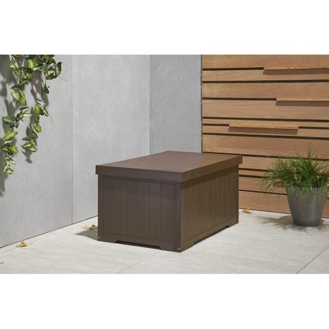 TRINITY EcoStorage 70 Gallon Outdoor Deck Box - Espresso Brown