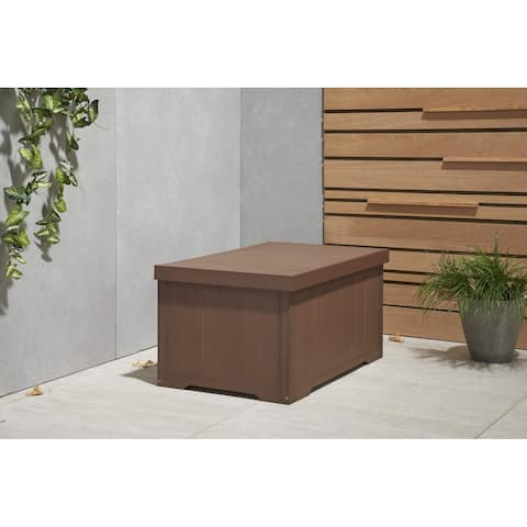 TRINITY EcoStorage 70 Gallon Outdoor Deck Box - Amber Brown