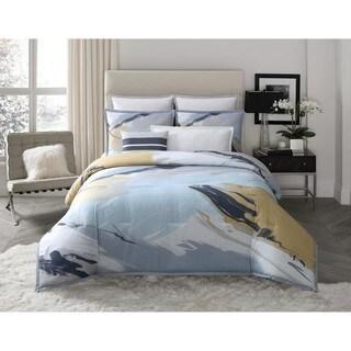 Vince Camuto Capri Abstract Brushstroke 3 Piece Comforter Set