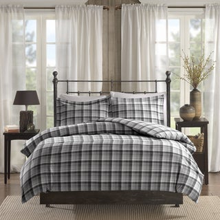 Woolrich Tasha Grey Printed Cotton Flannel Duvet Cover Mini Set
