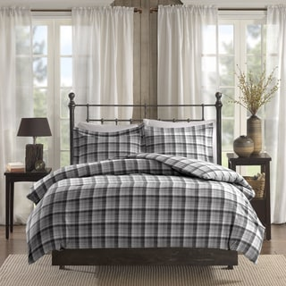 Woolrich Tasha Grey Printed Cotton Flannel Comforter Mini Set