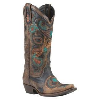 Black Star PRESIDIO (Rust) Women's Cowboy Boots|https://ak1.ostkcdn.com/images/products/18187178/P24332827.jpg?impolicy=medium