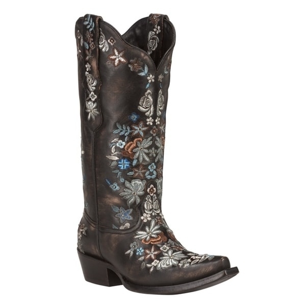 SWEETGRASS (Black/Silver) Women's Cowboy Boots