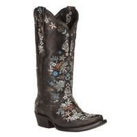 Black Star SWEETGRASS (Black/Silver) Women's Cowboy Boots