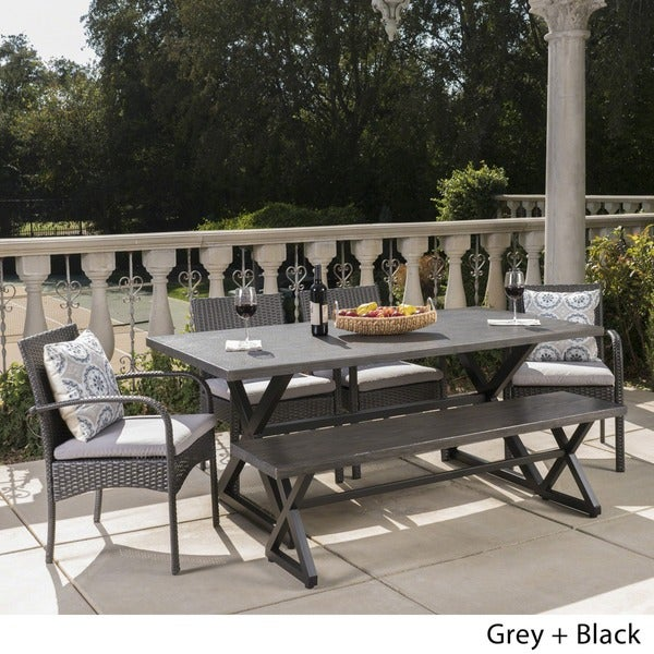 PatioPost Patio Furniture 3 Pcs PE Wicker Outdoor Garden Bistro Set with Table//Cushions,Seats 2,Tan