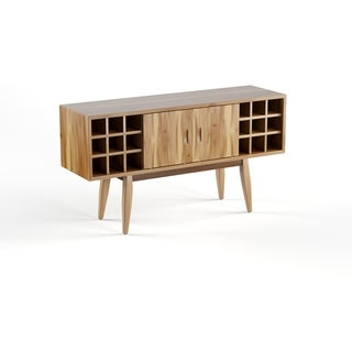 Edlyn Mid Century Acacia Wood Bar Cabinet by Christopher Knight Home