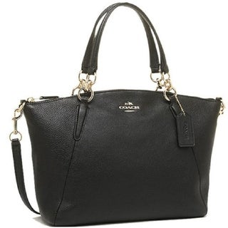 Coach Small Kelsey Satchel In Pebble Leather F36675