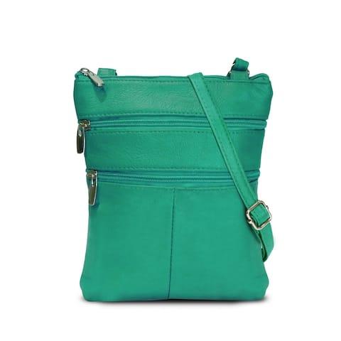 AFONiE Trendy Soft Leather Crossbody Handbag - 7 Colors