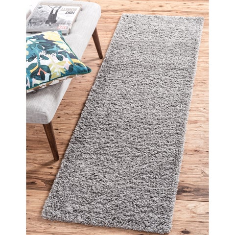 Unique Loom Solid Shag Runner Rug - 2' 2 x 6' 5