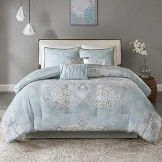 Madison Park Joanna Seafoam 7-piece Reversible Cotton Sateen Comforter Set