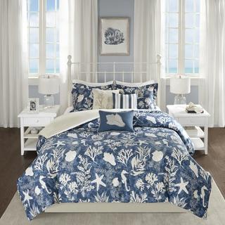Madison Park Chatham Blue 6-piece Cotton Sateen Duvet Cover Set