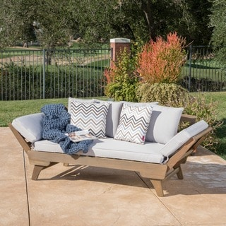 Ottavio Outdoor Wood Daybed With Cushions By Christopher Knight Home