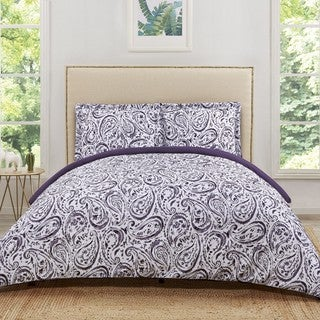 Truly Soft Watercolor Paisley 3 Piece Duvet Cover Set