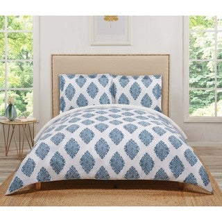 Truly Soft Annika Damask 3 Piece Duvet Cover Set