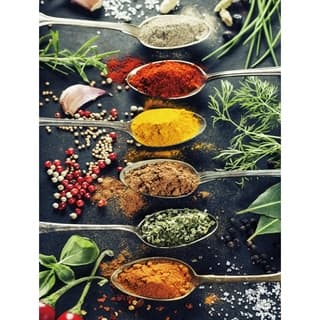"Cortesi Home A Pinch of Spice Tempered Glass Wall Art, 12"" x 16"""