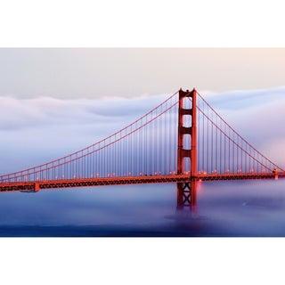 "Cortesi Home Golden Gate Bridge Tempered Glass Wall Art, 20"" x 28"""