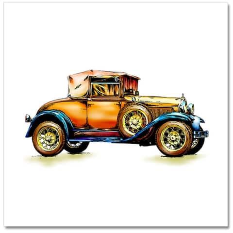 """Epic Graffiti Classic Car 1 Tempered Glass Wall Art, 18"""" x 18"""""""