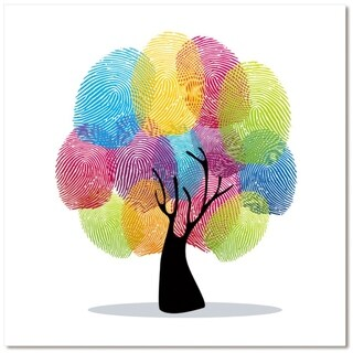 "Epic Graffiti Family Tree Tempered Glass Wall Art, 18"" x 18"""