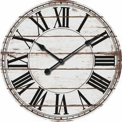 593abb2394be Buy Oversized Wall Clocks Online at Overstock | Our Best Decorative ...