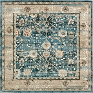 Unique Loom Miami Cambridge Area Rug (6 x 6 Square - Light Blue)